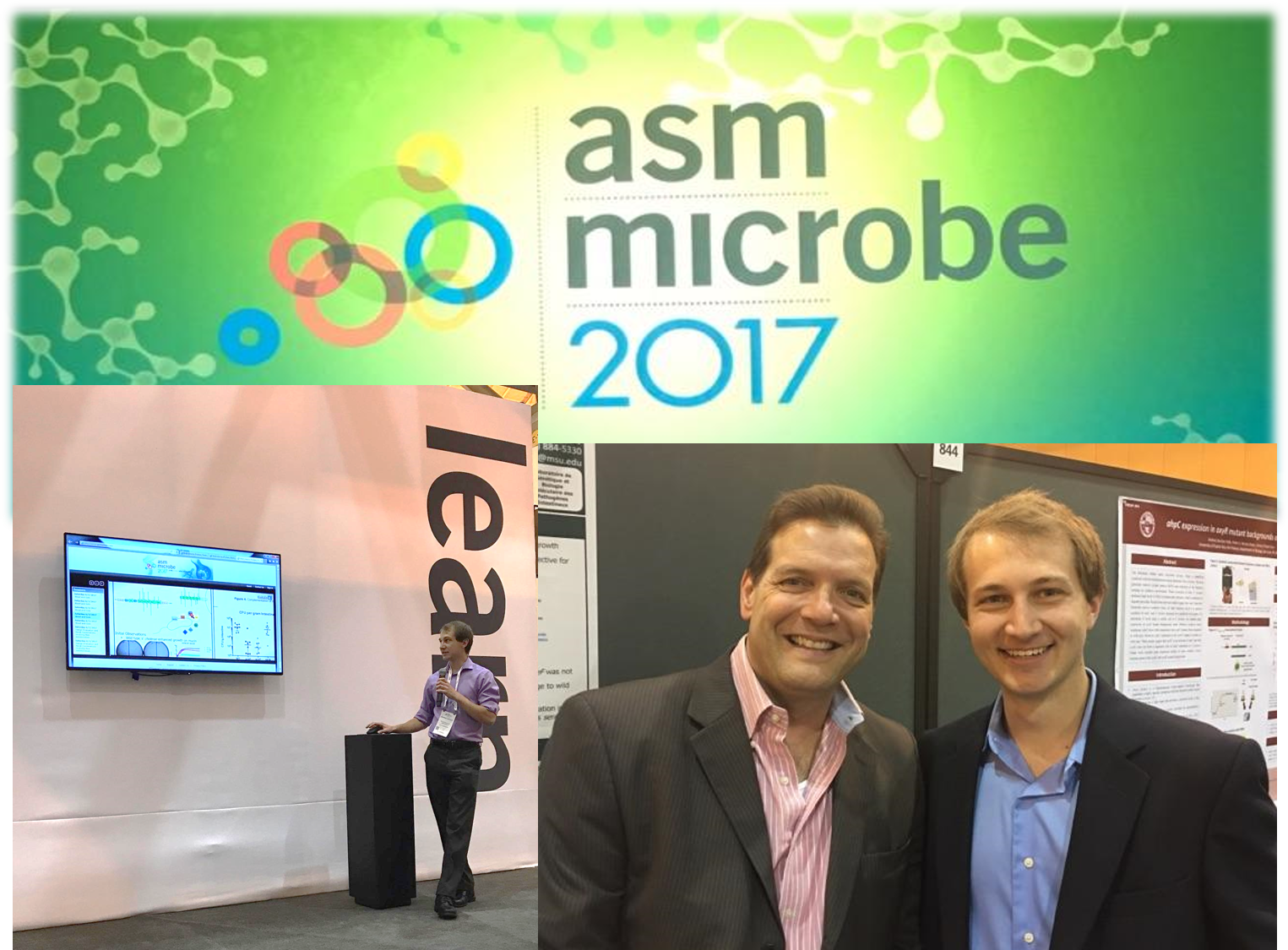 Collage of Vic and Ted at 2017 ASM Microbe