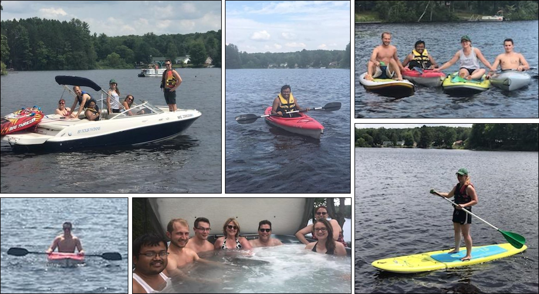 collage of our day at the lake lab outing
